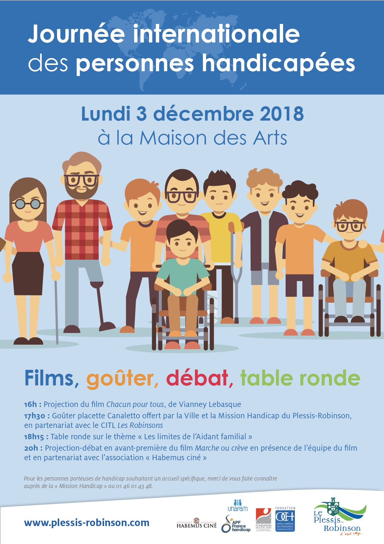 BAT JOURNEE INTERNATIONALE PERSONNES HANDICAPEES 2018